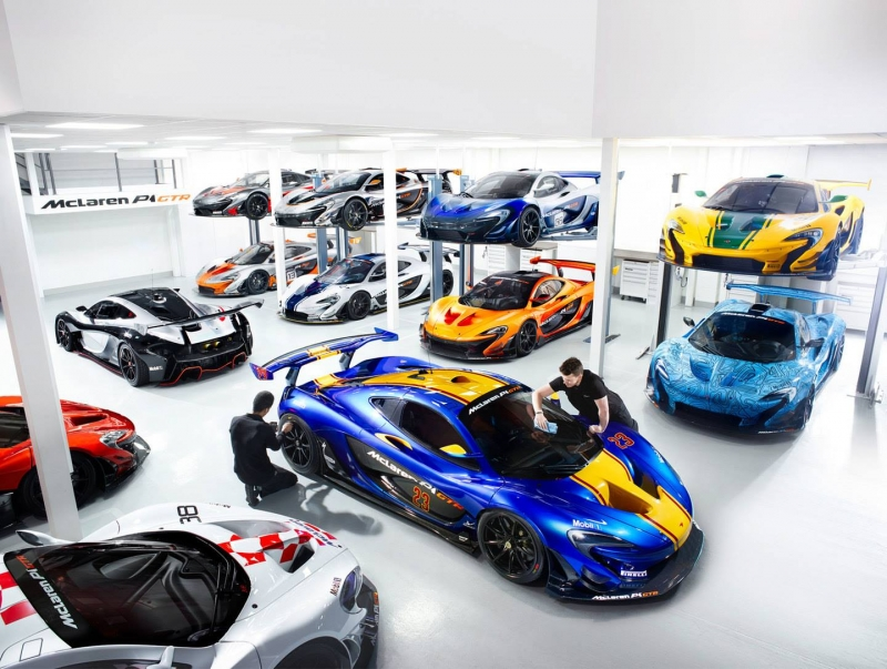 Get a glimpse into the insane McLaren P1 GTR workshop!