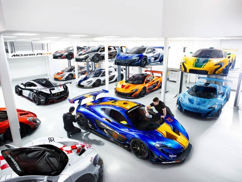 Get a glimpse into the insane McLaren P1 GTR workshop!