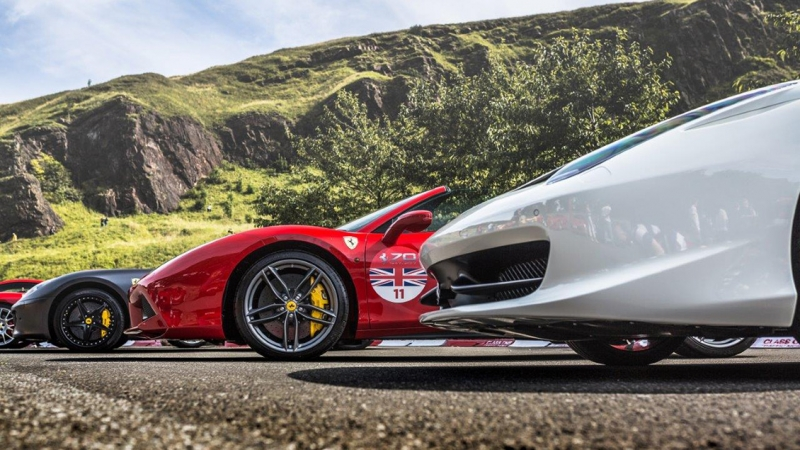 Ferrari fans and owners celebrate its 70th anniversary in Edinburgh