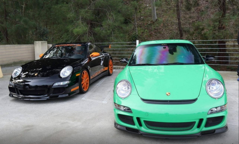 Rare Porsche cars at the Cars and Coffee event hold by Pelican Parts