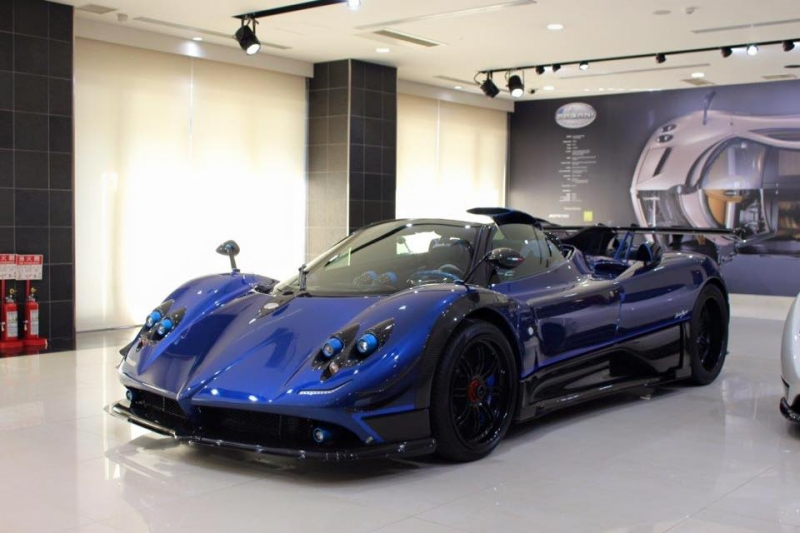 The new Pagani Zonda Kiryu released at a unveiling in Japan