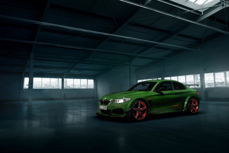 The tuned green ACL2 BMW M235i is waiting to impress at the Geneva Motor Show 2016