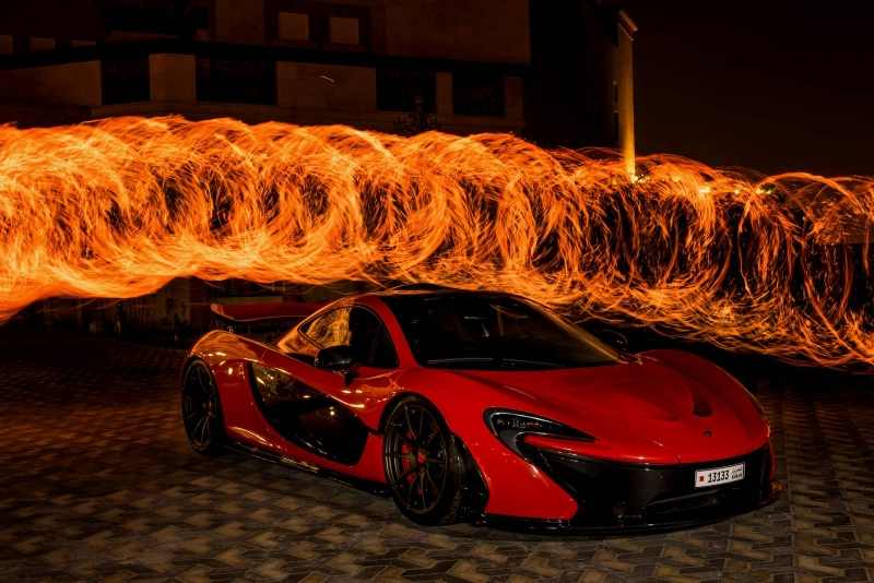 With a red McLaren P1 St Valentine's Day is brighter than ever!
