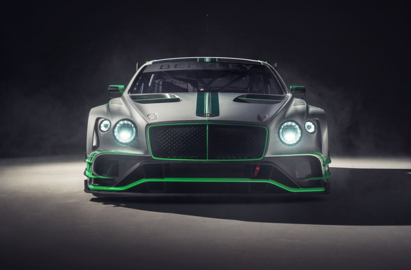 Bentley Continental GT3 racing version with a twin-turbo V8