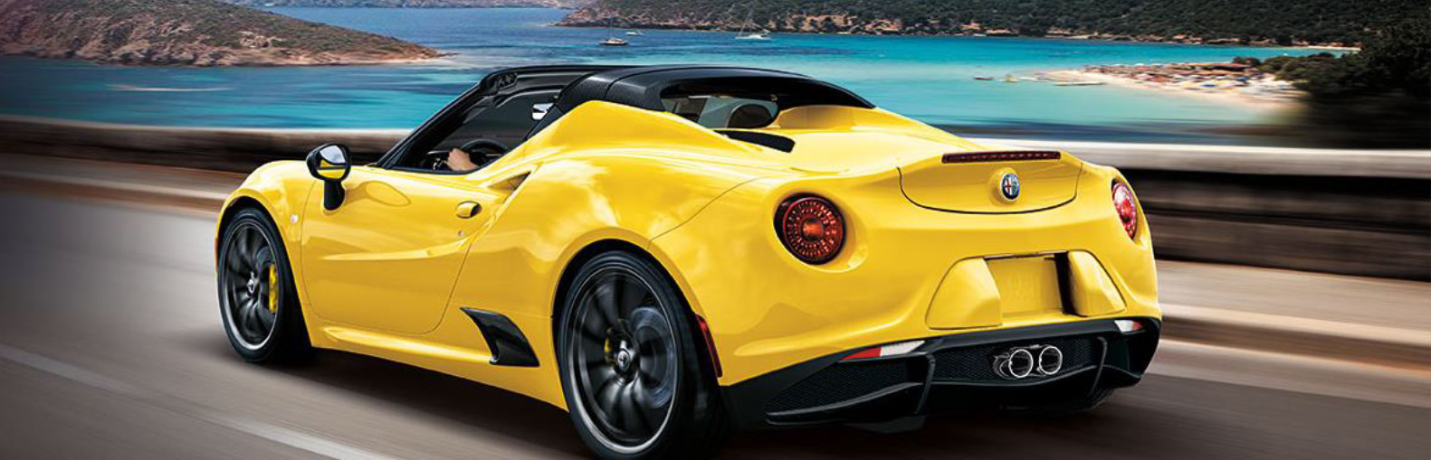 Alfa Romeo's 4C Spider - the lightest of the modern luxury sports cars