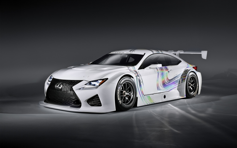 The 2017 Lexus GT3 will compete in US and Japan with other race cars