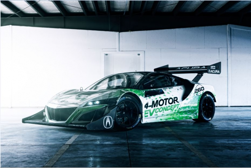 Honda NSX supercar EV concept ready for the 2016 Broadmoor Pikes Peak International Hill Climb