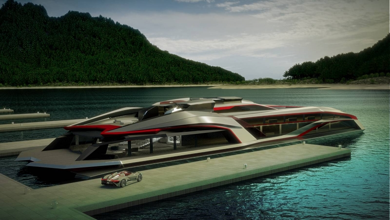 The Vapour GT concept car and the Kraken futuristic yacht make a fantastic duo