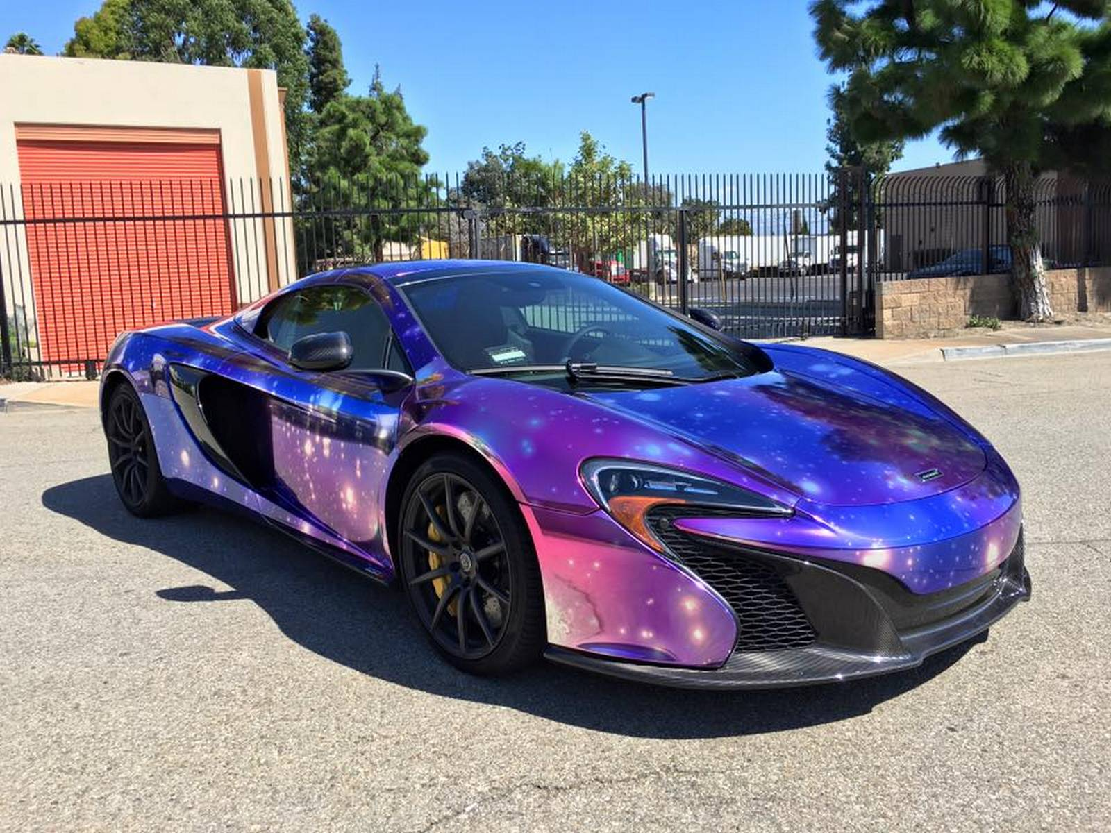 An exclusive 'Galaxy Chrome' wrap for a McLaren 650S Spider
