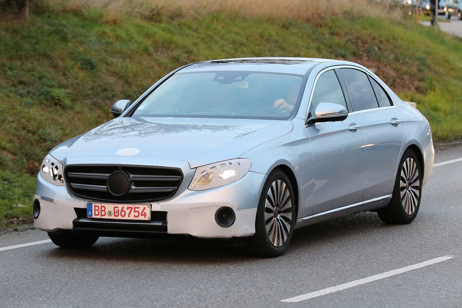 The prototype of the next-generation Mercedes-Benz E-Class spied without camouflage