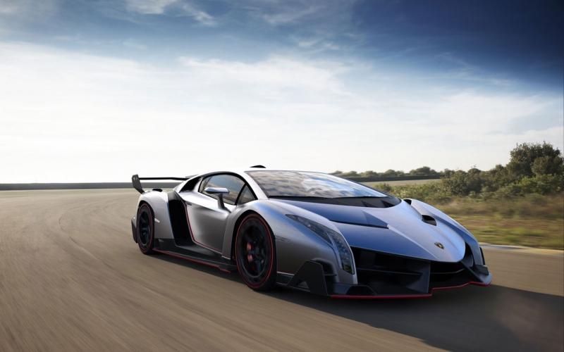 The most expensive supercar ever offered for sale - a Lamborghini Veneno
