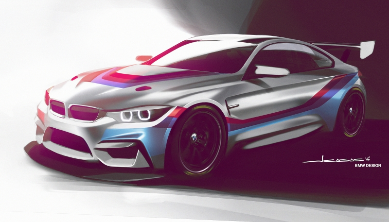 The unique BMW M4 GT4 racer launched in 2018!