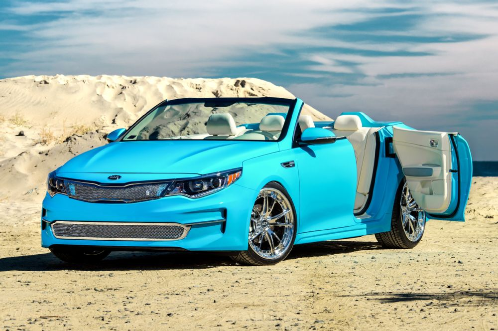 What about a 2016 Kia Optima Convertible?!