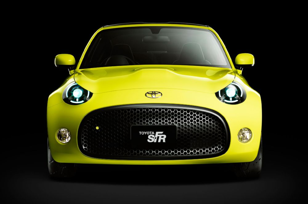 The Toyota S-FR concept ready for the Tokyo auto Show
