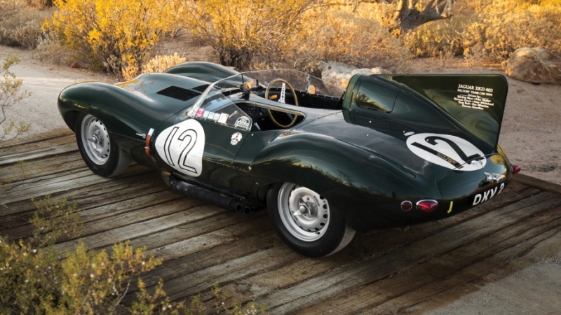 The amazing 1954 Jaguar D-Type race car goes up for auction!