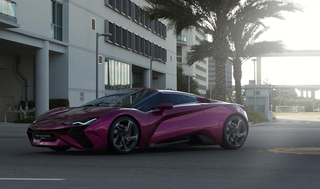 The Vensepto Concept Car features all the key elements which make a supercar
