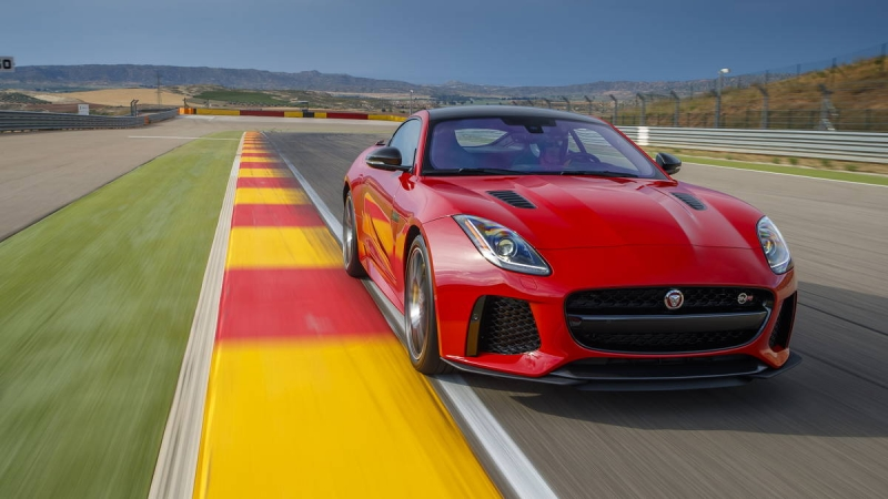 The 2017 Jaguar F-Type SVR is hellaciously fast!