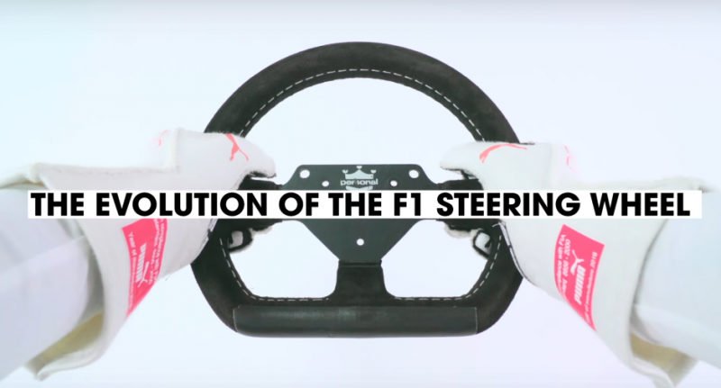 F1 steering wheels: from simple to sophisticated
