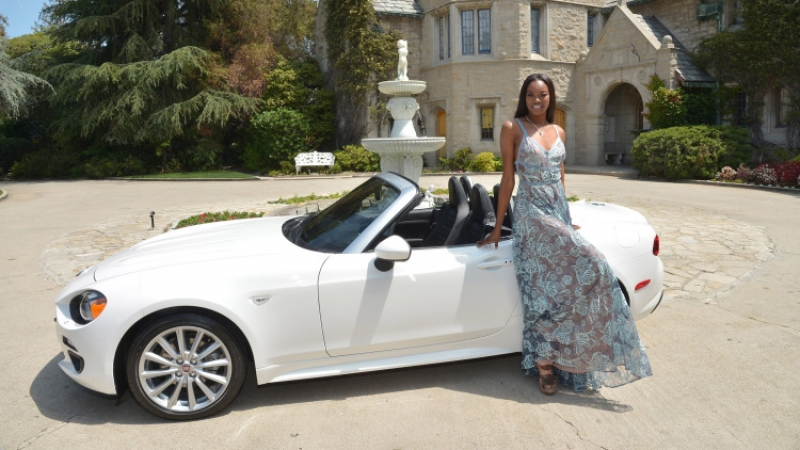 Playboy's girl got a 2017 Fiat 124 Spider as a prize!