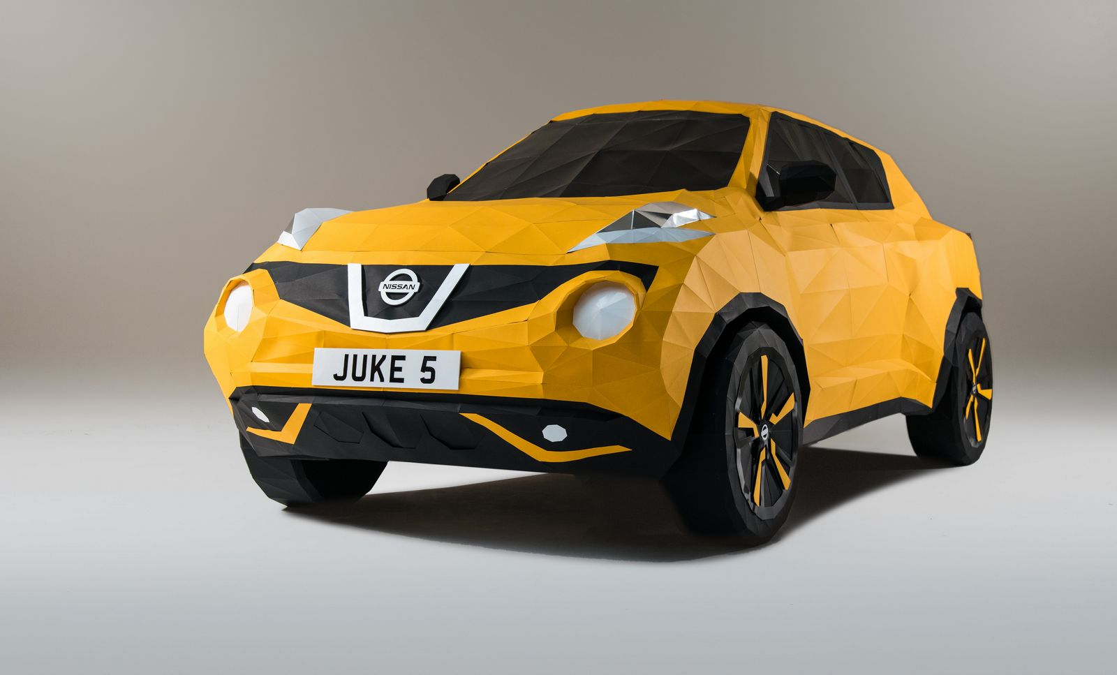 An origami Nissan Juke to celebrate the model's 5th anniversary